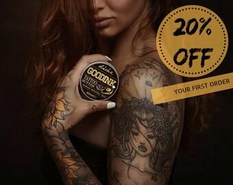Tattoo Butter-Tattoo Balm-Tattoo Skincare-Ink Balm-Tattoo Aftercare-All Natural-Vegan-Healing Salve-Tattoo Ointment-Organic-Moisturize Balm