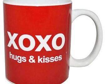 Novelty Text Speak Mug - XOXO Hugs & Kisses