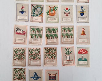 23 vintage Alpursa vingette, cross stitch patterns.