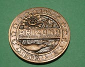 Arizona Territorial Centennial Medal 1863 / 1963  Copper 36 mm  Mint Condition / Nice to own or great for a Gift<>#et6925