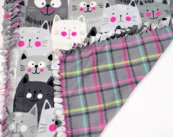 Cat Baby Fleece Blanket