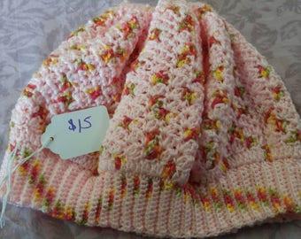 Pink Crochet Beret