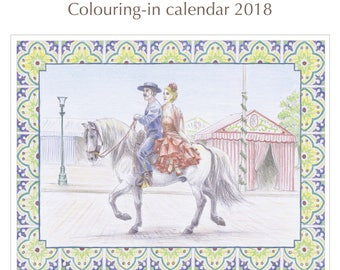 Horse Breeds of the World colouring-in calendar 2018