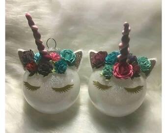 Unicorn Ornaments, Unicorn Christmas Ornament, Christmas, Unicorn, Polymer Horn, Christmas Decor