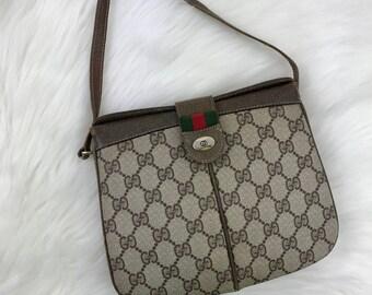 GUCCI Vintage Classic Monogram Small Crossbody Bag