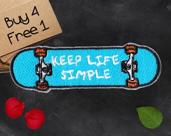 Skateboard Patches Quote Patches Iron On Patch Embroidery Patches Sew On Patch Patches For Denim Jackets