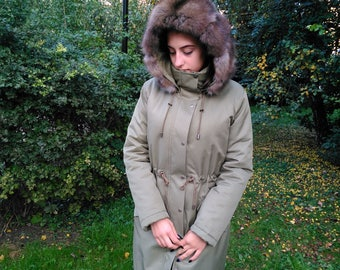 Parka With Fur Trim, jacket with sable fur.