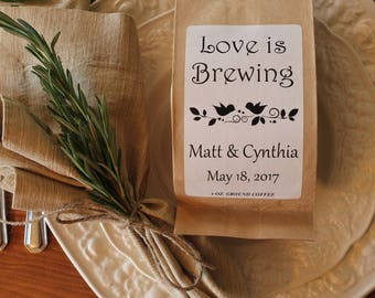 Wedding Coffee Favors - Love is Brewing