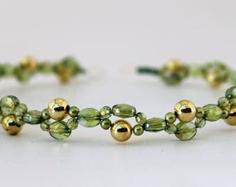 Green Wired Headband