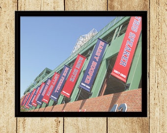 Red Sox Hall of Famers Banners at Fenway Park Photograph