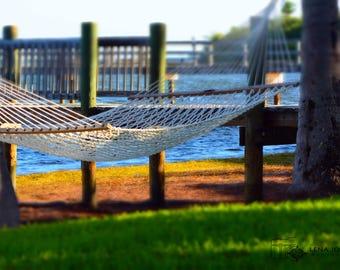 Hammock in Paradise - Digital Download - Ocean Photography