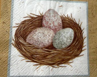 Nest and egg napkin