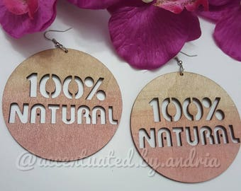 100% Natural Statement Earrings