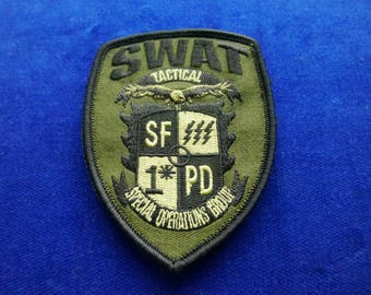San Francisco SWAT subdued Patch # 1* Special Operations Group #1
