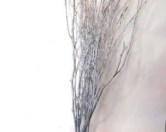 Silver Twigs, Natural Twigs, Birch Branches Centerpieces, Decorative Birch Twigs, Rustic Twigs, Wood Twigs, Woodland Wedding, Beech Twigs