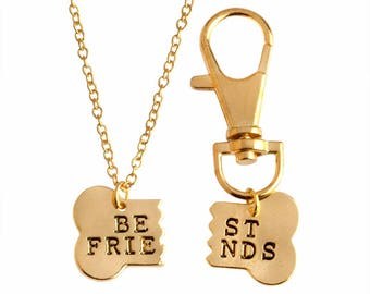 Best Friends Necklace and Keychain
