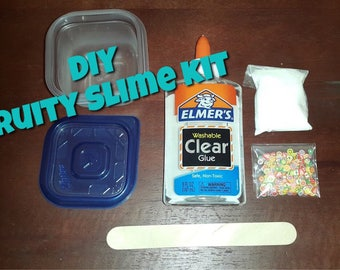 Fruity Beads DIY Slime Kit with activator/Kids Craft