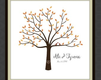 12 x 12 Personalized WEDDING or ANNIVERSARY ART - Tree - Love - Couple - Marriage - Decorations - Wall Art - Print - Family Keepsake - Gift