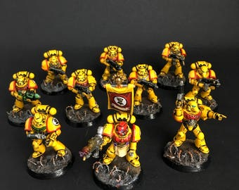 COMMISION Warhammer 40k Space Marine Squad  OR Chaos Space Marine Squad