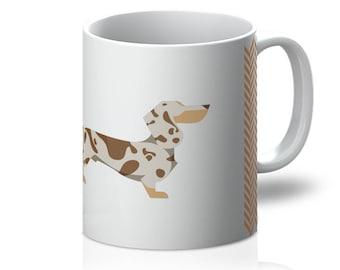 Dapple Personalised Dachshund Mug - Unique Sausage Dog Gift - Custom-Made