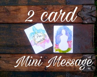 2 Card Mini Message || Oracle Cards, Tarot Cards, Card Reading, Divination, Spirit Messages, Intuitive Guidance