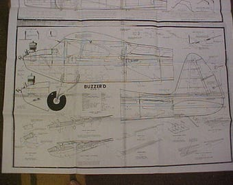 Buzzer'd model Airplane Plan 72 Inch Wing Span