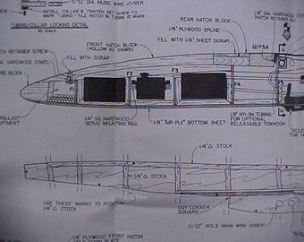 Sagitta 900 Glider Model Airplane Plan 98 Inch Wing Span