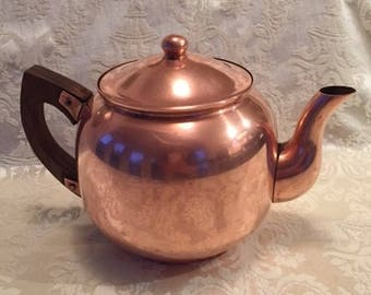 Vintage Copper Tagus Teapot Tea Kettle