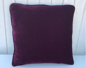 Burgundy Velvet Cushion Cover