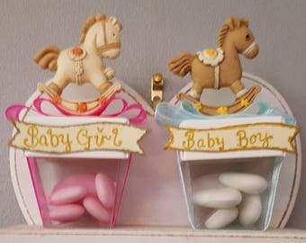 Baby boy and baby girl favours