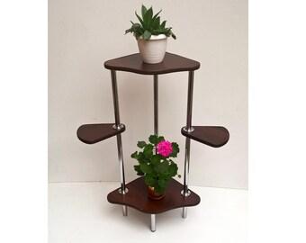 "Plant Stand ""T4"" . Flower stand Indoor plant stands Plant holder Plant table Stand for flowers Flower shelf Shelf Corner shelf Planter Rack"