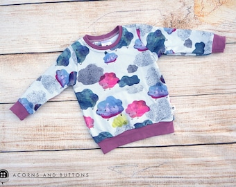 Pink Thunderclouds crew neck Jumper - 12-18m