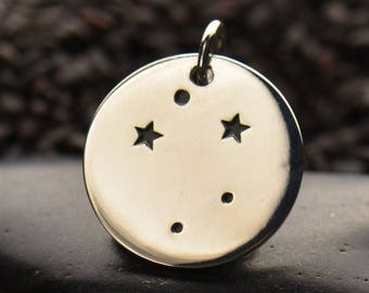 Sterling Silver Libra Constellation Charm - Make your own charm necklace - Charm it Yourself