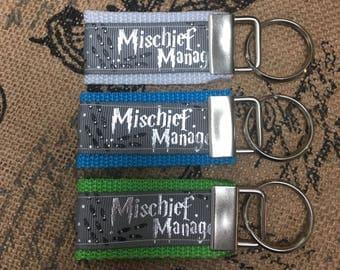 Mischief managed key chain