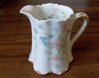 Vintage Limoges, Haviland porcelain creamer. France (#EV122)
