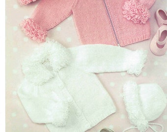 UK Hand Knitting Association 60 – Cardigan, Hat & Bonnet