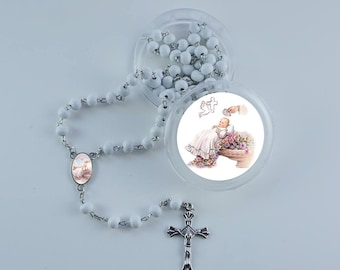 Baptism, Christening Scented Rosary Favors -12pcs pack with gift box and Organza bags JN291