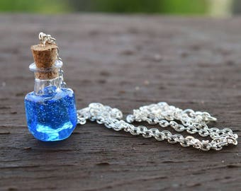 Mana Potion Pendant Necklace