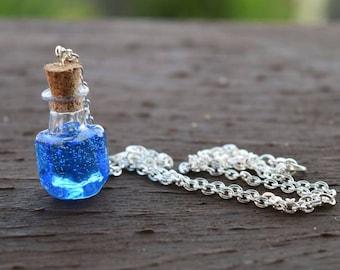 Mana Potion Pendant Necklace