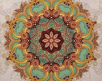 mandala embroidery kit mandala diy mandala wall hanging mandala design mandala pattern mandala needlepoint flower mandala art mandala tools