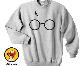 Lightning Glasses Harry Tee Potter Super Top Crewneck Sweatshirt Unisex More Colors XS - 2XL