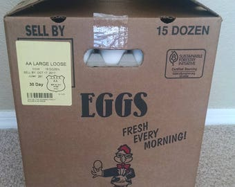 "180/15 dozen - Large chicken eggs ""Blown"""