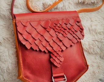 """handbag leather """"dragon"""""""
