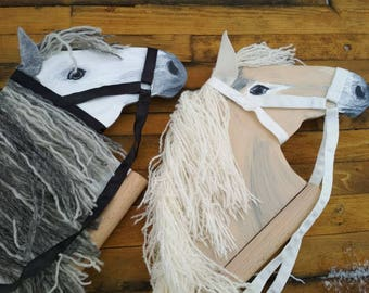 Horse lover gift etsy two hobby horses twins toy gift for twins wooden rocking horse stick horse easter gift hobby negle Gallery