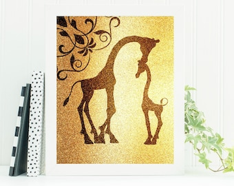 Giraffe Gift, Giraffe Print, Instant Download, Downloadable Print, Nursery Decor, Nursery Wall Art, Giraffe Nursery, Giraffe, Nursery Print