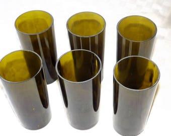 Set of 6 Wine Bottle Glasses