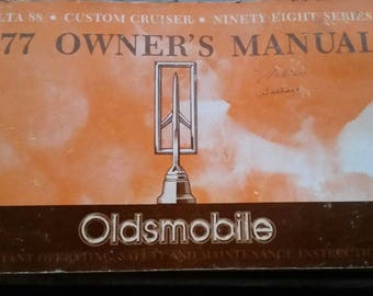 1977 Oldsmobile owners manual