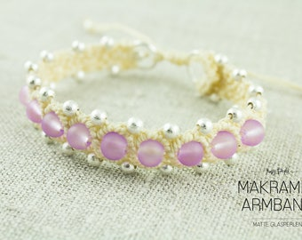 Macrium Bracelet Beige/Lilac