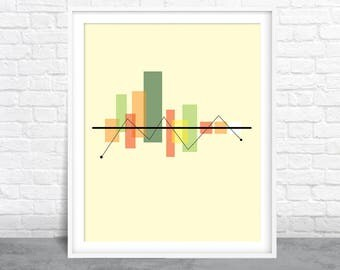 Abstract Art, Cityscape Design, Stock Market Shapes Art