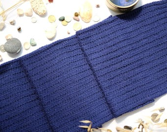Hand knit Men's Scarf for him winter , man's blue scarf, knitted scarf men, perfect gift for him